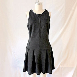 Black Scuba Drop Waist Zip Dress, Like New, Sz 8